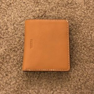 Tan Fossil Mini Wallet